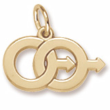 14k Gold Male Twins Charm by Rembrandt Charms