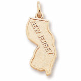 10K Gold New Jersey Charm by Rembrandt Charms