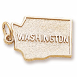 Gold Plated Washington Charm by Rembrandt Charms