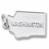 14K White Gold Washington Charm by Rembrandt Charms
