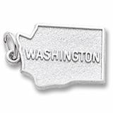 14K White Gold Washington Charm by Rembrandt Charms