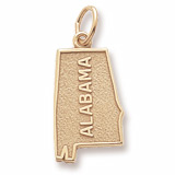 Gold Plated Alabama Charm by Rembrandt Charms