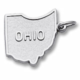 14K White Gold Ohio Charm by Rembrandt Charms