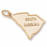Gold Plated South Carolina Charm by Rembrandt Charms
