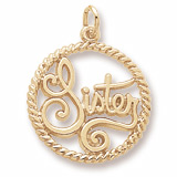 Gold Plate Sister Charm by Rembrandt Charms