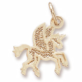 10K Gold Pegasus Charm by Rembrandt Charms