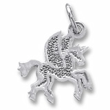 14K White Gold Pegasus Charm by Rembrandt Charms