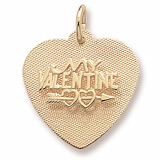 10K Gold My Valentine Heart Charm by Rembrandt Charms