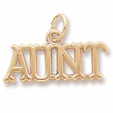 10K Gold Aunt Charm by Rembrandt Charms