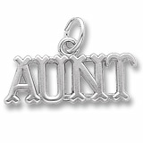 14K White Gold Aunt Charm by Rembrandt Charms