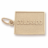 Gold Plated Colorado Charm by Rembrandt Charms