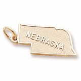 14K Gold Nebraska Charm by Rembrandt Charms