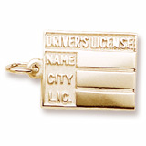 10K Gold Driver's License Charm by Rembrandt Charms