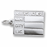 14K White Gold Driver's License Charm by Rembrandt Charms