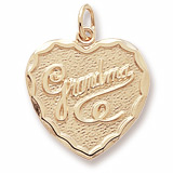 Gold Plated Grandma Charm by Rembrandt Charms