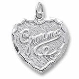 14K White Gold Grandma Charm by Rembrandt Charms