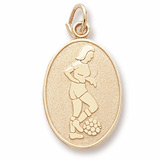 14K Gold Female Soccer Player Charm by Rembrandt Charms
