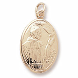 Gold Plated Saint Francis Charm by Rembrandt Charms