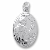 Sterling Silver Saint Francis Charm by Rembrandt Charms