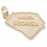 Gold Plated Augusta, Georgia Charm by Rembrandt Charms