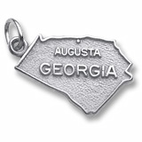 14K White Gold Augusta, Georgia Charm by Rembrandt Charms
