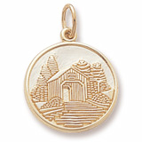 14K Gold Covered Bridge Charm by Rembrandt Charms