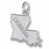 14K White Gold Louisiana Charm by Rembrandt Charms