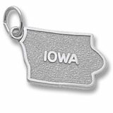 Sterling Silver Iowa State Map Charm by Rembrandt Charms