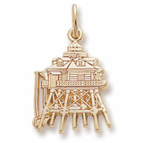 Gold Plated Thomas Point Lighthouse Charm by Rembrandt Charms