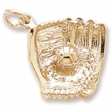 10K Gold Baseball Glove Charm by Rembrandt Charms