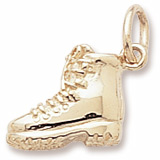 Gold Plated Hiking Boot Charm by Rembrandt Charms