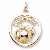 10K Gold Georgia Peach Charm by Rembrandt Charms