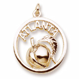 Gold Plated Atlanta Peach Charm by Rembrandt Charms