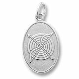 14K White Gold Archery Charm by Rembrandt Charms