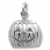 Sterling Silver Jack O' Lantern Charm by Rembrandt Charms
