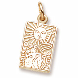 14K Gold Tarot Card Charm by Rembrandt Charms