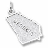 14K White Gold Georgia Charm by Rembrandt Charms