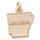 10K Gold Arkansas Charm by Rembrandt Charms