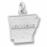 14K White Gold Arkansas Charm by Rembrandt Charms