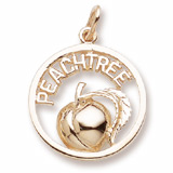 Gold Plate Georgia Peachtree Charm by Rembrandt Charms