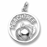 Sterling Silver Georgia Peachtree Charm by Rembrandt Charms