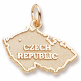Gold Plated Czech Republic Charm by Rembrandt Charms