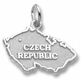 Sterling Silver Czech Republic Charm by Rembrandt Charms