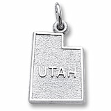 14K White Gold Utah Charm by Rembrandt Charms