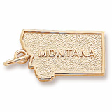 10K Gold Montana Charm by Rembrandt Charms