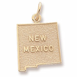 Gold Plated New Mexico Charm by Rembrandt Charms