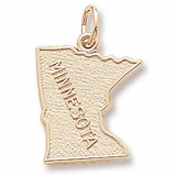 10K Gold Minnesota Charm by Rembrandt Charms