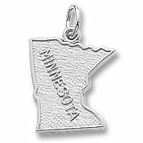 Sterling Silver Minnesota Charm by Rembrandt Charms