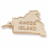 10K Gold Rhode Island Charm by Rembrandt Charms