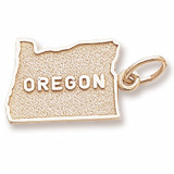 14K Gold Oregon Charm by Rembrandt Charms
